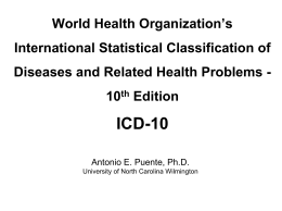 World Health Organization International Statistical