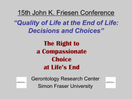 Friesen Conference - Simon Fraser University