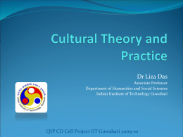 Cultural Theory and Practice