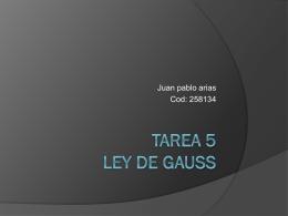 Tarea 5 ley de gauss