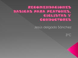 RECOMENDACIONES BASICAS PARA PEATONES, …