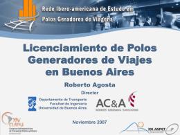 Proceso de licenciamiento de Polos Generadores de Viajes