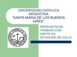 """UNIVERSIDAD CATOLICA ARGENTINA """"SANTA MARIA DE …"""