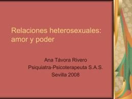 Relaciones heterosexuales: amor y poder