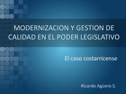 MODERNIZACION Y GESTION DE CALIDAD EN EL PODER …