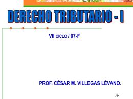 DERECHO CONSTITUCIONAL TRIBUTARIO.