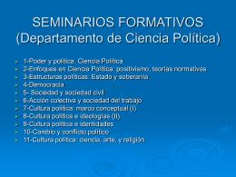 SEMINARIOS FORMATIVOS Departamento de Ciencia …