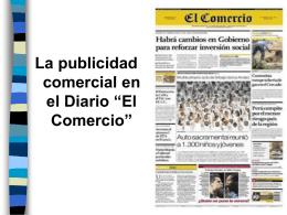 LA PUBLICIDAD COMERCIAL EN EL DIARIO EL COMERCIO