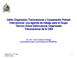 Diapositiva 1 - OAS :: Department of Conferences and