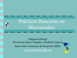Financiamiento para las Microfinanzas en un Mundo …