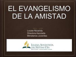 EL EVANGELISMO DE LA AMISTAD