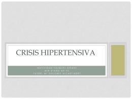 CRISIS HIPERTENSIVA - Docencia Rafalafena | Articulos