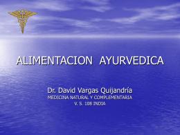 ALIMENTACION AYURVEDICA