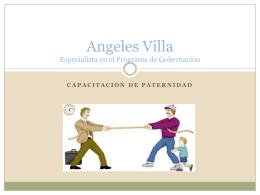 Angeles Villa Especialista en el Programa de Paternidad