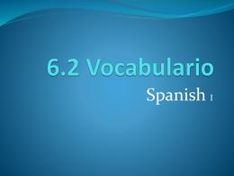 6.2 Vocabulario