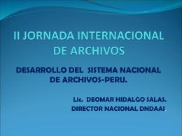 II JORNADA INTERNACIONAL DE ARCHIVOS