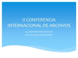 II CONFERENCIA INTERNACIONAL DE ARCHIVOS