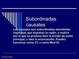 Subordinadas causales