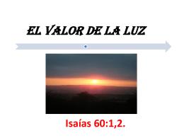EL VALOR DE LA LUZ