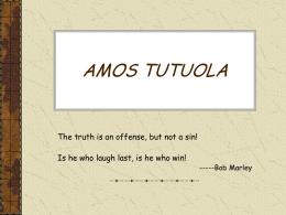 AMOS TUTUOLA - David Lavery