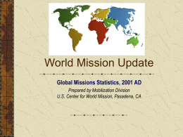 World Mission Update