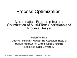 Optimization - Louisiana State University