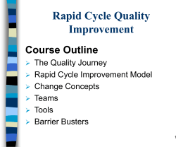 Rapid Cycle Quality Improvement