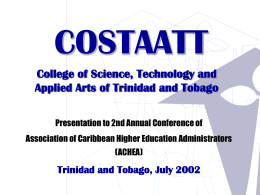 COSTAATT - The University of the West Indies at St