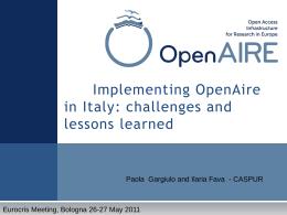 Introduzione su OpenAIRE