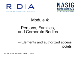 Persons, Families, and Corporate Bodies