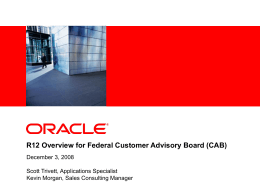 Oracle Release 12 Financials Overview