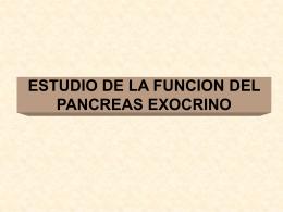 ESTUDIO DE LA FUNCION DEL PANCREAS EXOCRINO