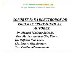 Monografias : Soporte para electrodos de pruebas