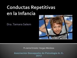 Conductas Repetitivas en la Infancia Dra