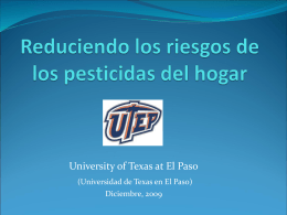 Reduciendo el contacto con los pesticidas del hogar