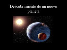 Descubrimiento de un nuevo planeta