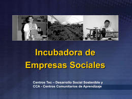 Incubadora de Empresas Sociales