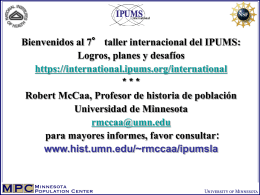 IPUMS-International Disseminating Census Microdata