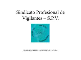 SINDICATO PROFESIONAL DE VIGILANTES