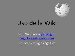 Uso de la Wiki