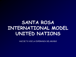 SANTA ROSA INTERNATIONAL MODEL UNITED NATIONS