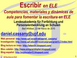 Oralitat i escriptura - LFB