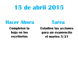 15 de abril 2015