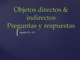 Objetos directos & indirectos