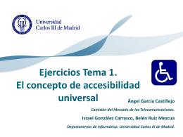 El concepto de accesibilidad universal