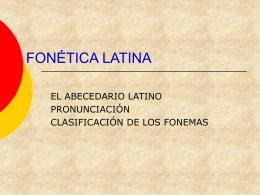 """EL """"ABECEDARIO"""" LATINO"""
