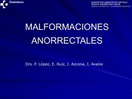 MALFORMACIONES ANORECTALES ( M.A.R.) INCIDENCIA