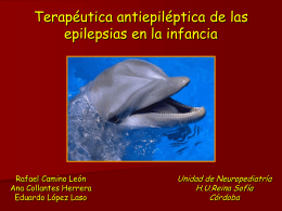 EPILEPSIAS PARCIALES BENIGNAS: Tratamiento
