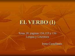 EL VERBO (II)