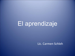 El aprendizaje - Universidad de La Punta